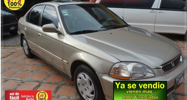 Honda Civic 1996, EX, Manual, motor Vtec 1600cc, Financio hasta 100%