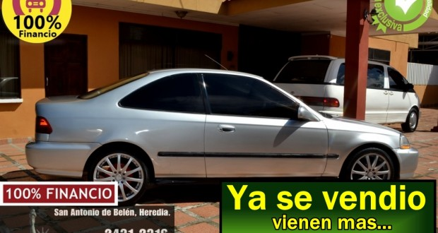 Honda Civic 1997, VTEC, Manual, Version USA, Aros 17, financio 100%